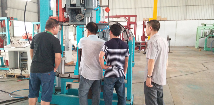 pipe strapping machine field test, automatic pipe strapper