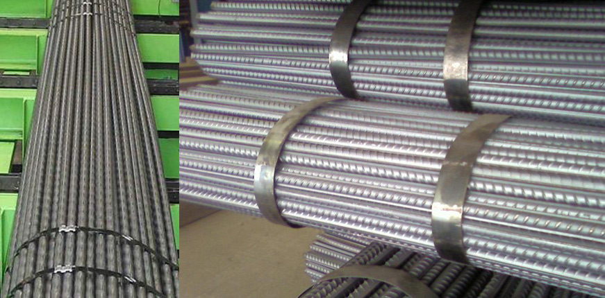 steel bar strapping, steel bar banding, steel rod strap packing