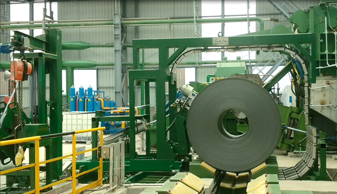 cold roll steel baling machine,steel roll steel binding equipment,coil steel strapping machine